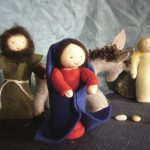 Joseph, Marie et le petit âne.
