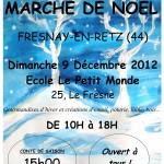 Marché de Noël 2012 à l' école Le petit Monde-Jardin d'enfants Steiner/waldorf en Loire Atlantique