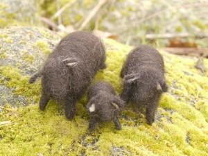 des moutons pour la table des saisons