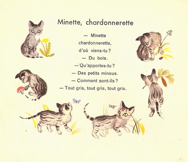 Minette, chardonnerette.  Album du père castor 1953