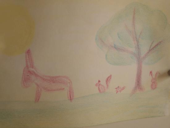 un dessin de mes dessins aux pavés de cire