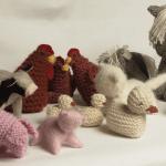 Des animaux de la ferme tricotés pour Jessica