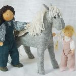 Alice, Cathy et leur cheval – figurines waldorf