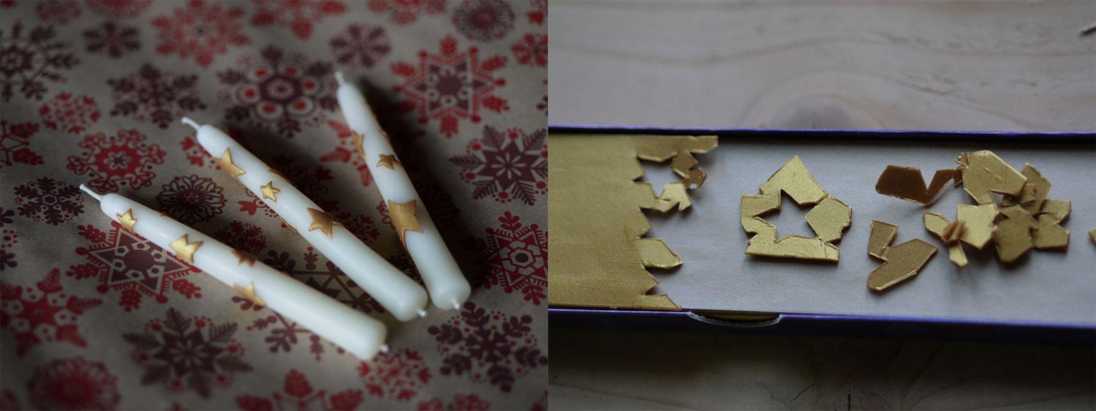 Nos bougies décorées. Petits présents ou décorations.