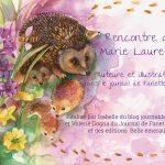 Rencontre avec Marie Laure Viriot auteure et illustratrice pour le journal de Fanette et Filipin